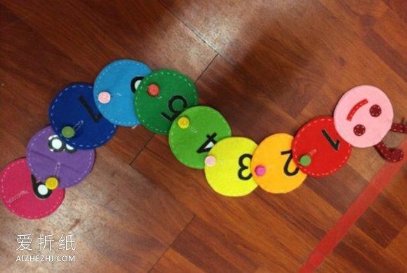 怎么做幼儿园玩教具 毛毛虫玩教具手工制作_爱折纸网