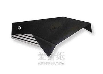 怎么折纸鲸鱼简单教程 幼儿园手工折纸鲸鱼图解- www.aizhezhi.com