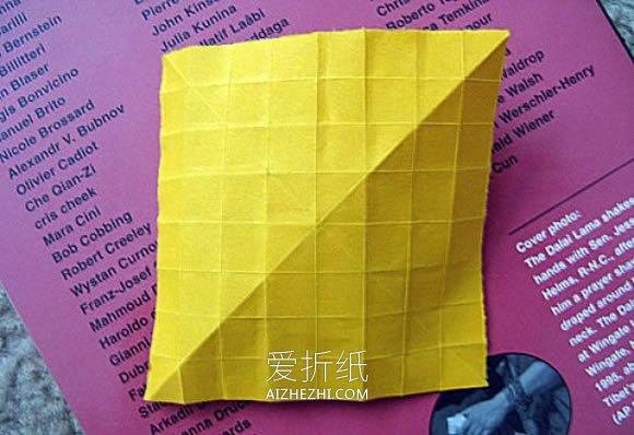 如何折纸立体玫瑰花 经典玫瑰花的手工折法- www.aizhezhi.com