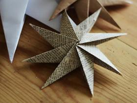 八角星的折法图解 折纸立体八角星教程