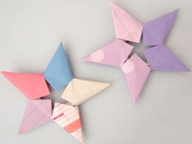 组合五角星的折法 立体五角星折纸图解