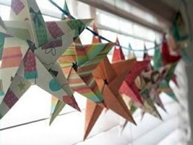 一张纸折纸五角星的折法图解