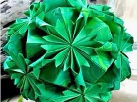 如何折纸花球 漂亮纸花球的折法图解