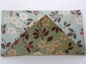 信封的折法图解 心形纸折纸信封的方法