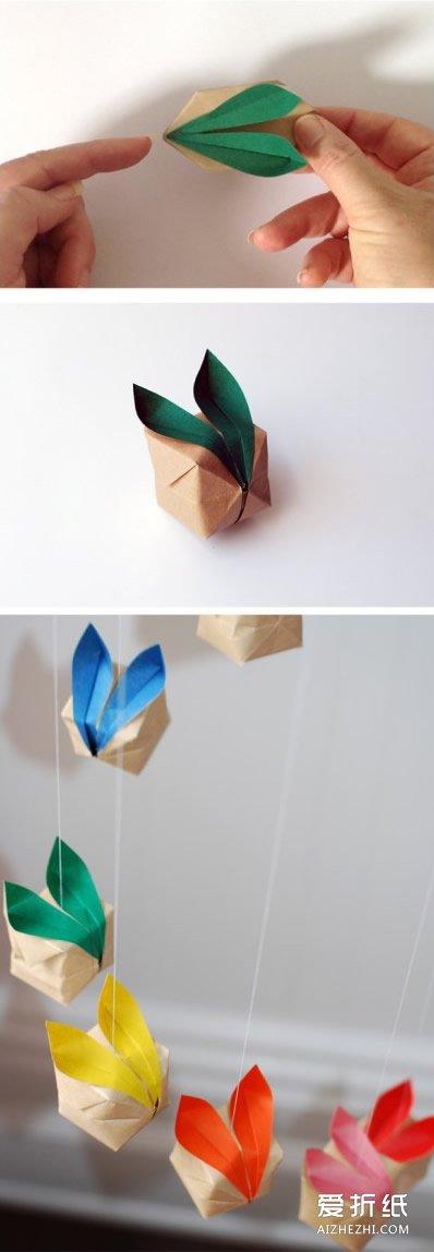 手工制作立体相框_立体兔子的折法图解 手工兔子折纸步骤图_爱折纸网