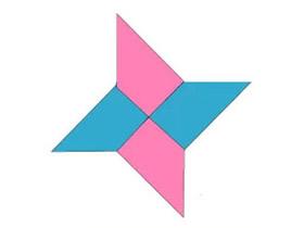 四角飞镖怎么折 折纸四角飞镖的折法图解