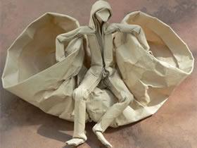 三个创意折纸人物作品图片欣赏