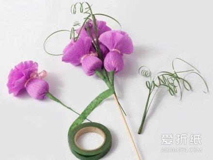 布娃娃花束怎么做_皱纹纸折纸糖果花束 糖果花束制作方法图解_爱折纸网