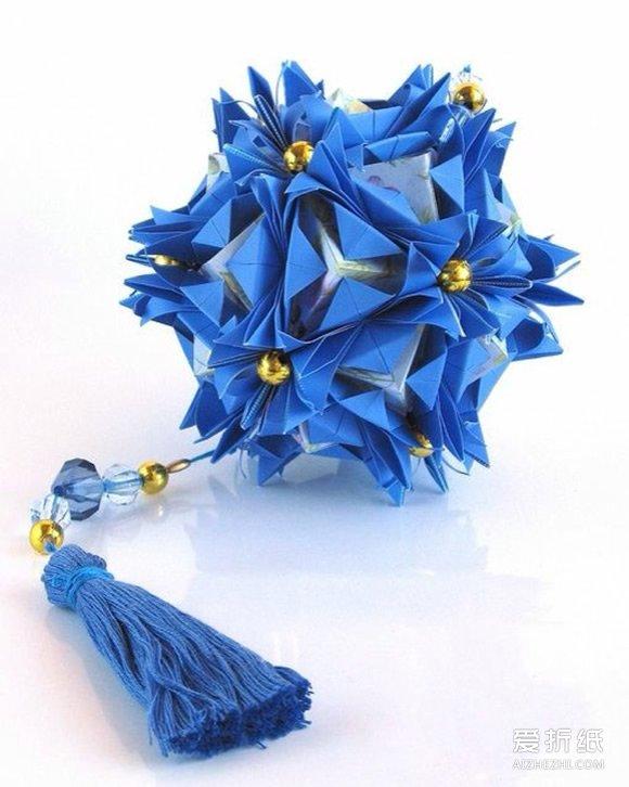 手工制作立体相框_创意折纸花球作品 好看的纸花球图片欣赏_爱折纸网