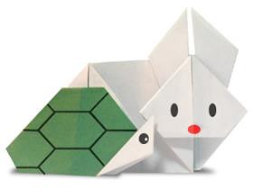 如何折纸龟兔赛跑 龟兔赛跑的折法图解