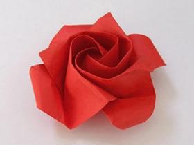 手工折纸玫瑰花详细步骤图解
