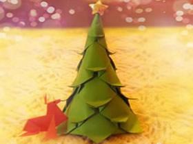 如何折纸圣诞树 一张纸折圣诞树图解