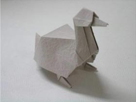 如何折纸立体鸭子 站立鸭子折叠图解