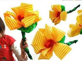 如何简单折纸花 幼儿折纸花朵的折法图解