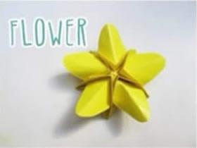 如何折纸星星的方法 手工折纸五角星花图解