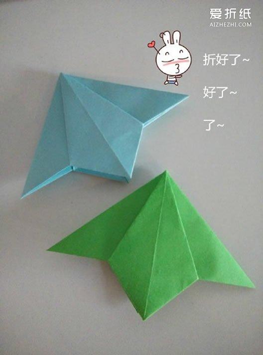 三角折纸笔筒_如何折纸三角形书签 三角形书签的折法图解_爱折纸网