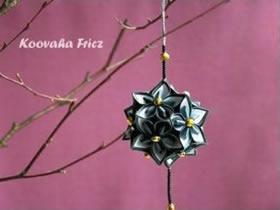 如何折纸樱花花球 立体樱花花球的折法图解
