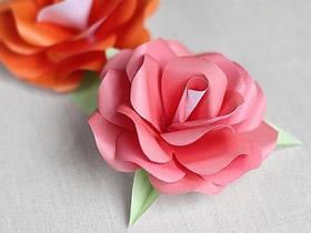 如何折纸牡丹花 简单牡丹花的折法图解