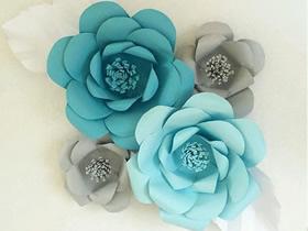 纸玫瑰花的做法图解 简单立体玫瑰花做法