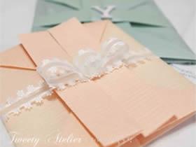 如何折纸婚礼请柬 创意婚礼请柬的折法图解