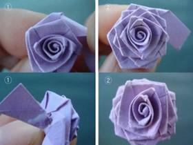 长纸条折玫瑰的方法 长纸条做玫瑰花图解