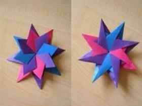 魔幻八角星的折法 八角星星折纸步骤图解