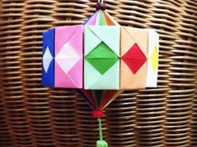 如何折纸灯笼的方法 儿童纸灯笼的折法图解