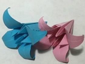 如何折百合花的图解 手工百合花折纸方法