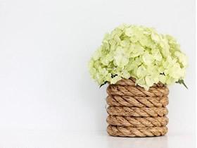 如何用麻绳制作花瓶 田园风麻绳花瓶DIY教程