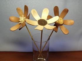 冰棒棍花朵手工制作 简单冰棒棍DIY小花的方法