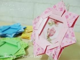 如何折纸花型相框 手工折纸花朵相框图解
