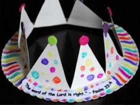 儿童生日帽制作教程 纸餐盘做生日帽的方法