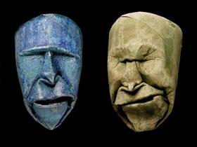 卷纸芯DIY人像雕塑作品 立体手工人像雕塑图片