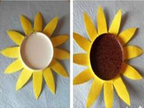 一次性纸杯做向日葵 幼儿手工制作向日葵的方法