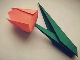 怎么折郁金香的方法 折纸郁金香步骤图解