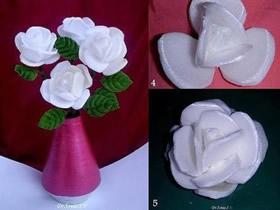 泡沫饭盒变废为宝 制作漂亮的立体玫瑰花
