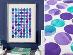 简单圆片装饰画制作 手工圆纸片粘贴画的做法