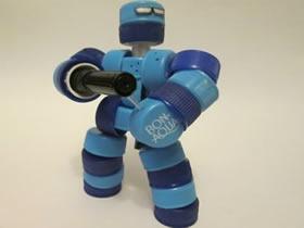 塑料瓶盖机器人制作 机器战警模型的做法步骤图