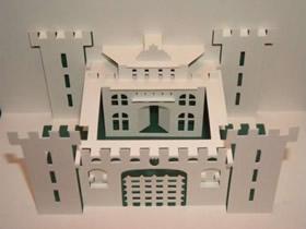 八种建筑物立体贺卡制作 剪纸建筑物贺卡的做法