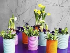 如何用奶粉罐做花盆 铁罐花盆制作方法