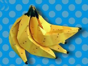 如何折纸香蕉图解 儿童折纸香蕉的折法步骤