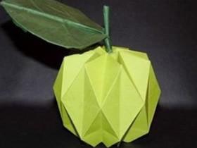 如何折纸立体青苹果 立体苹果的折法图解