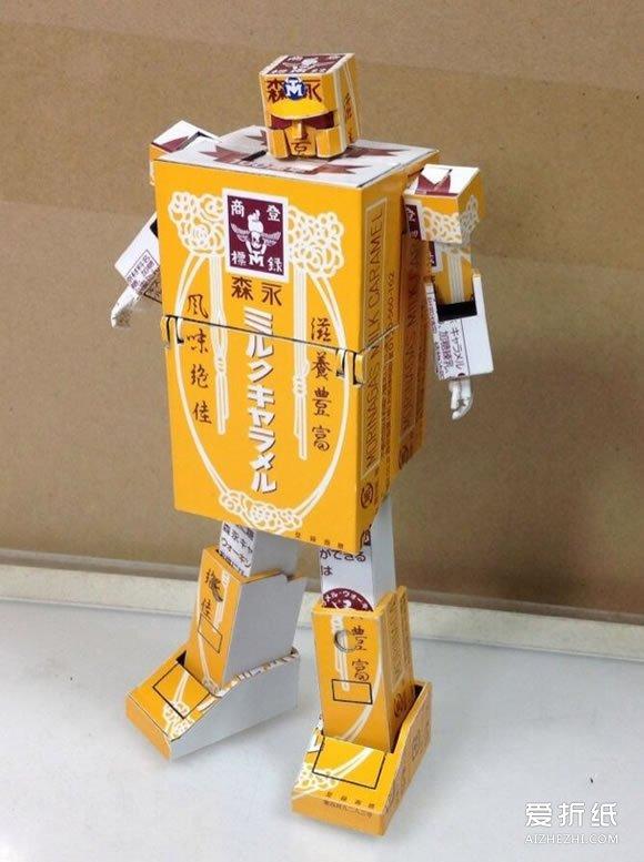 人的身体图_饮料纸盒制作变形金刚机器人的方法图解_爱折纸网