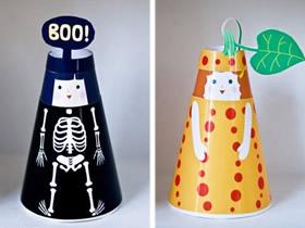 可换衣服的卡纸人偶制作 幼儿换装玩具的做法