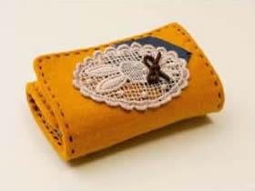 不织布钥匙包制作 手工布艺钥匙包的做法