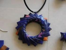 三角插圆环手工制作 做成儿童项链吊坠
