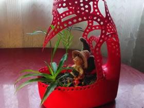 洗衣液瓶做花盆图片 洗衣液瓶子DIY花盆教程