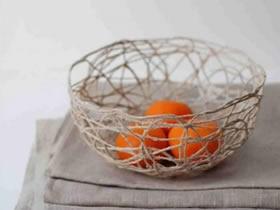 麻绳收纳盘DIY教程 手工制作麻绳水果盘的方法