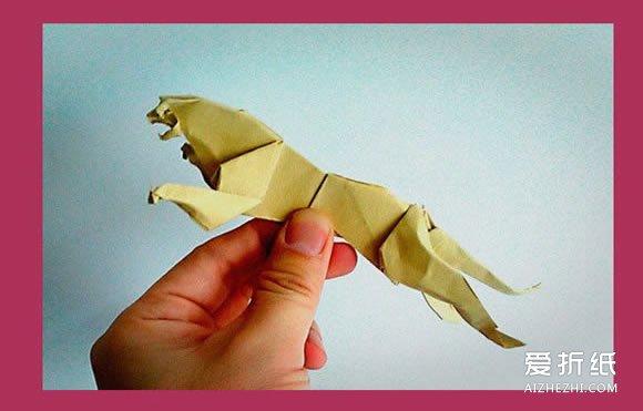 如何折纸猎豹的步骤 手工猎豹的折法图解- www.aizhezhi.com