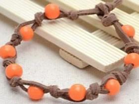 皮革串珠手链DIY图解 简约风串珠手链编织教程